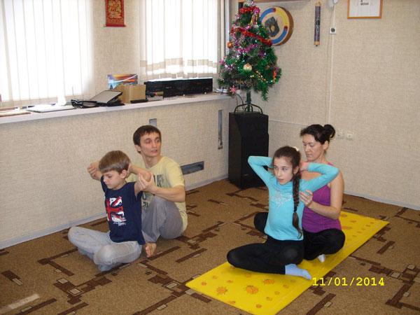 """Мастер-класс """"Семейная йога для детей и родителей"""""""