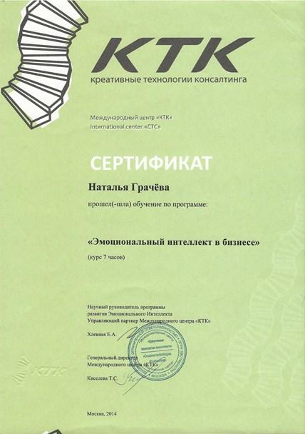 Грачева Наталья Дипломы